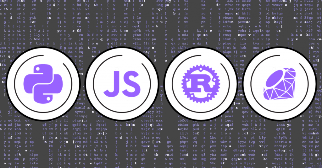 Algorithm development in Python, Javascript, Rust, and Ruby