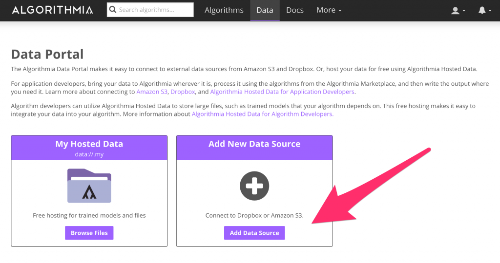 Connect a new Data Source