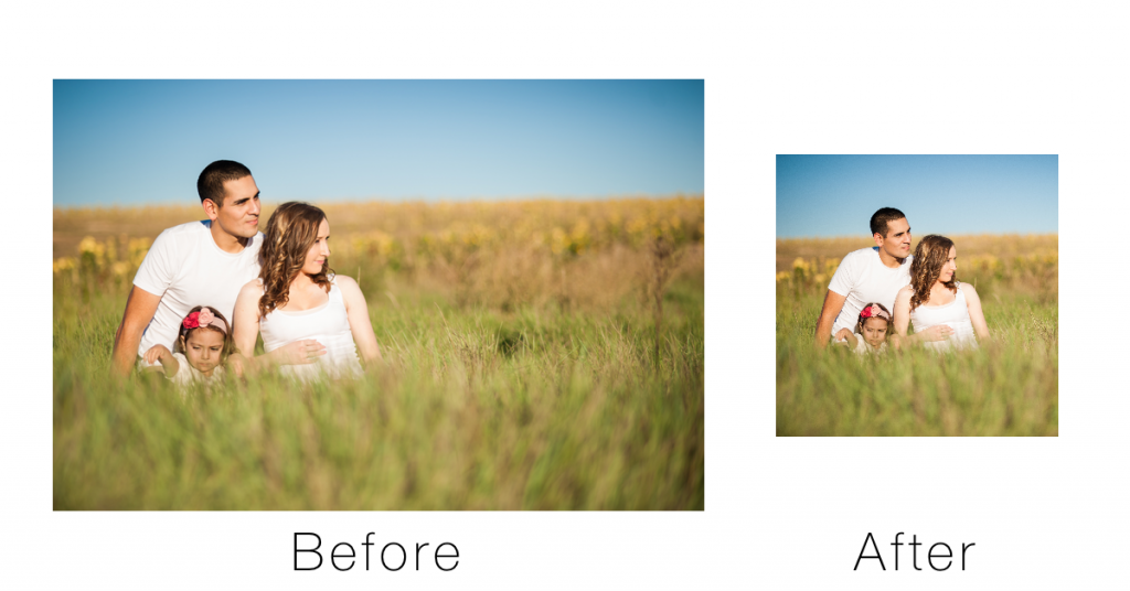 Before and after example of Dropbox image processing
