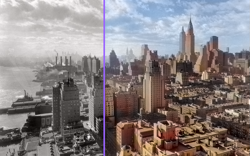 NYC Skyline Colorized