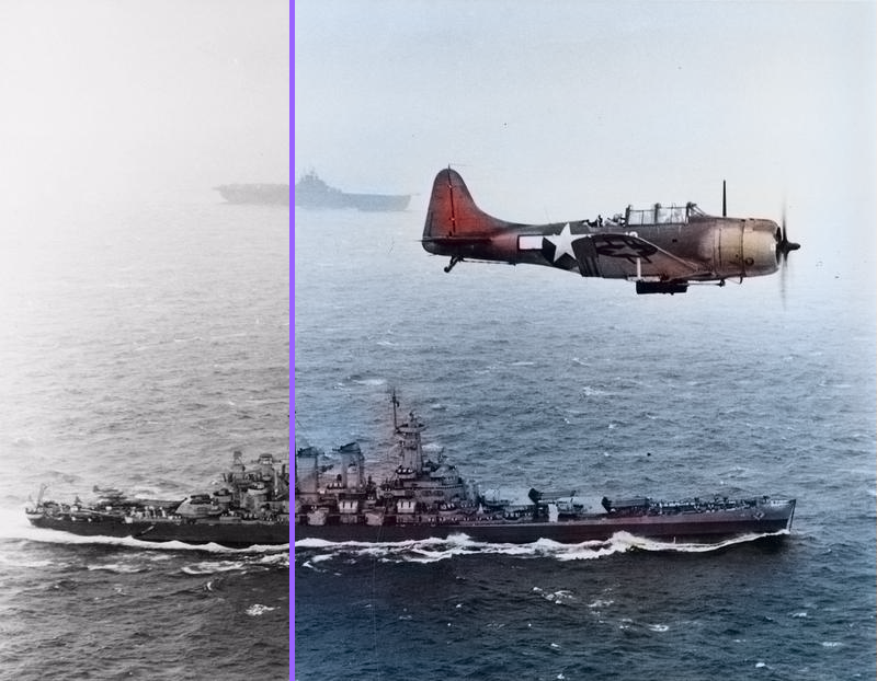 Photo of war in color