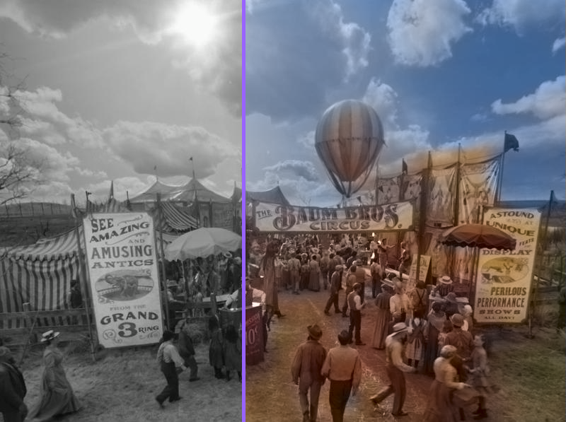Fair photo in color