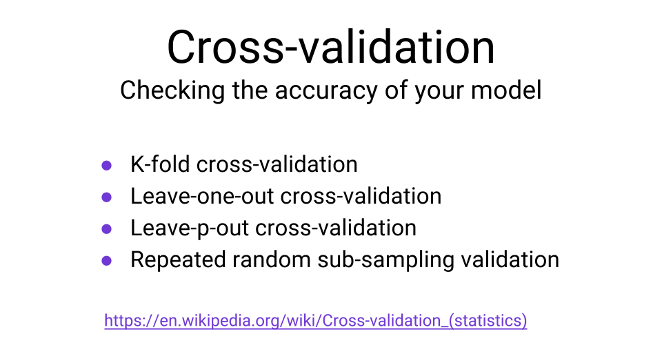 cross validation machine learning methods