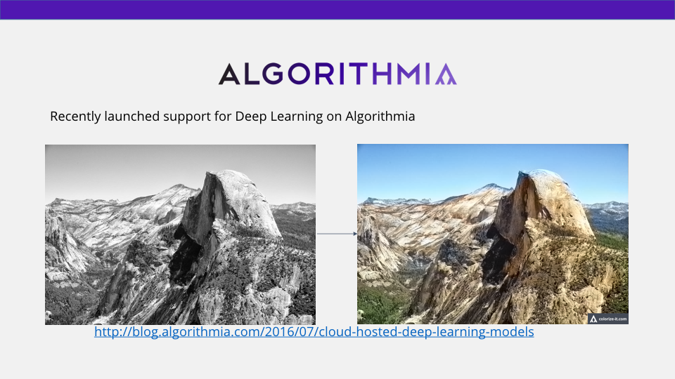 Colorizing black and white photos using deep learning