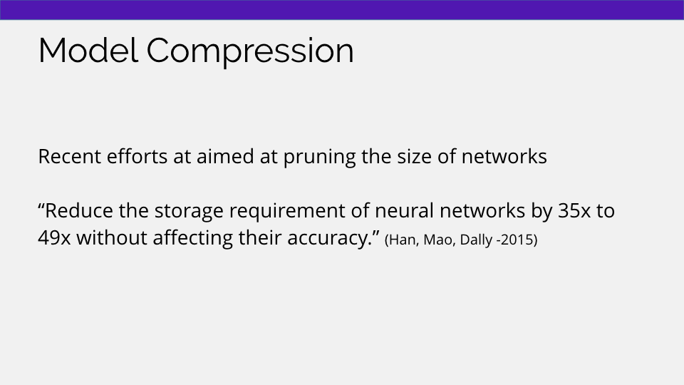 machine learning model compression