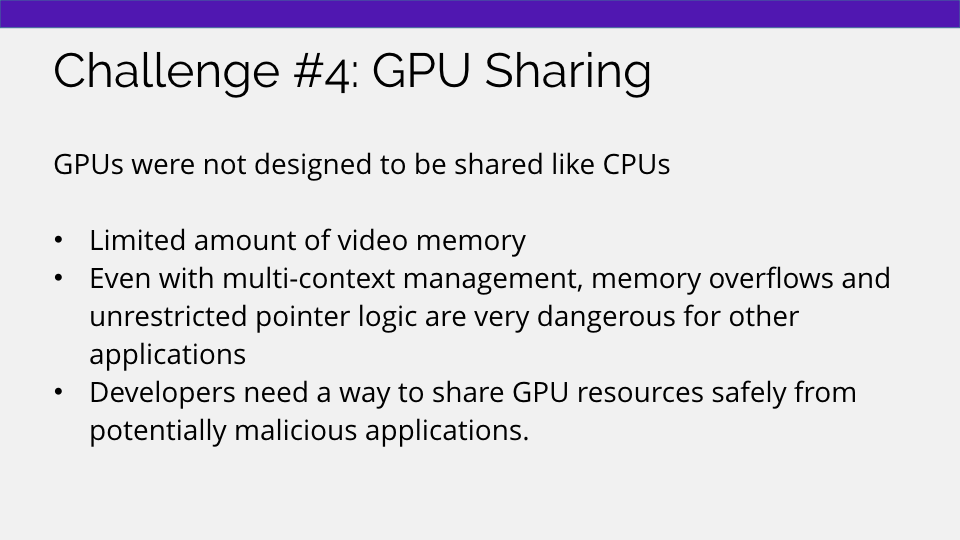 Sharing GPUs in the cloud