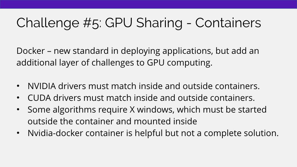Using containers to share GPUs in the cloud