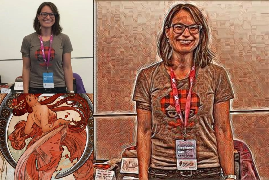 Before and After Style Transfer