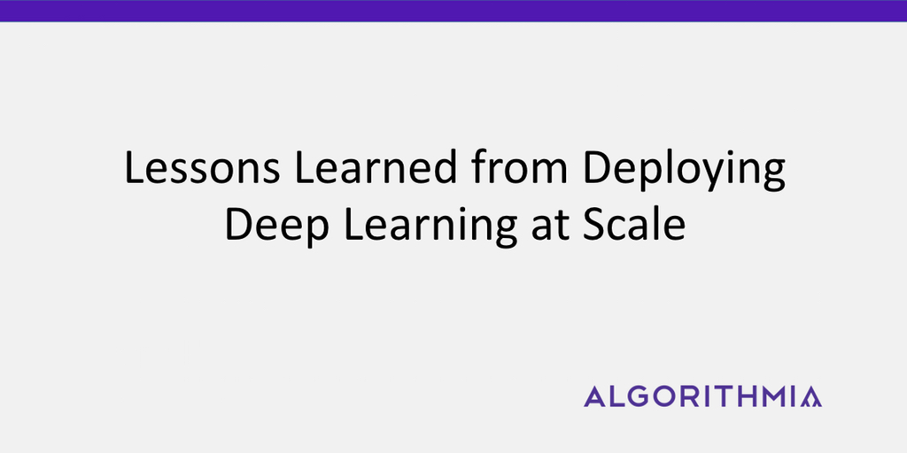 deploying deep learning frameworks at scale - algorithmia, Modern powerpoint