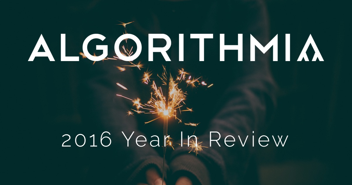 Algorithmia Year In Review 2016