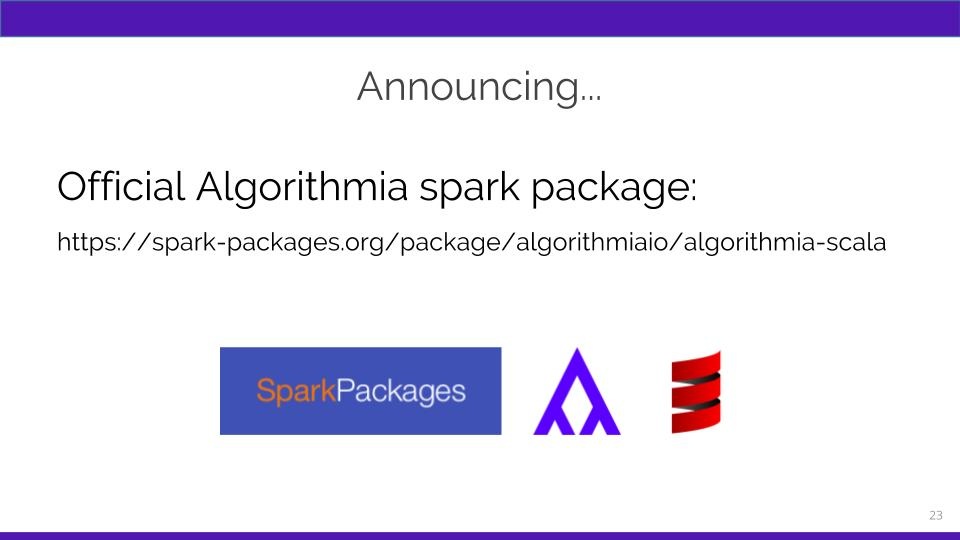 Algorithmia Spark package