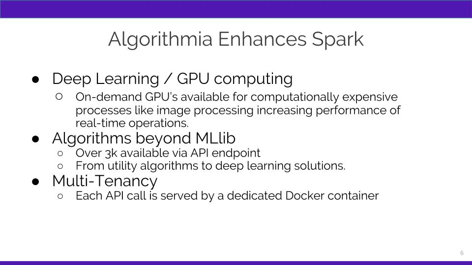 How Algorithmia Enhances Spark