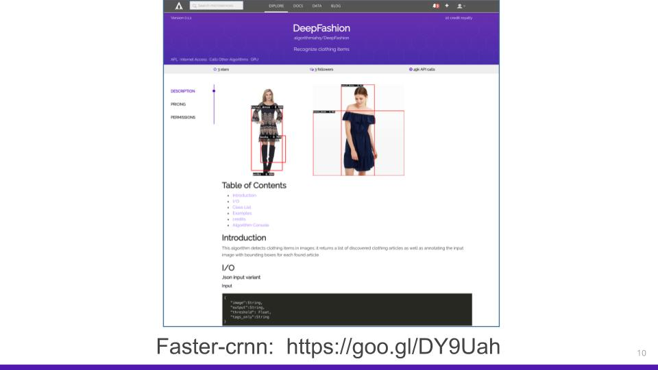Deep fashion algorithm description
