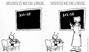 Unsupervised learning cartoon