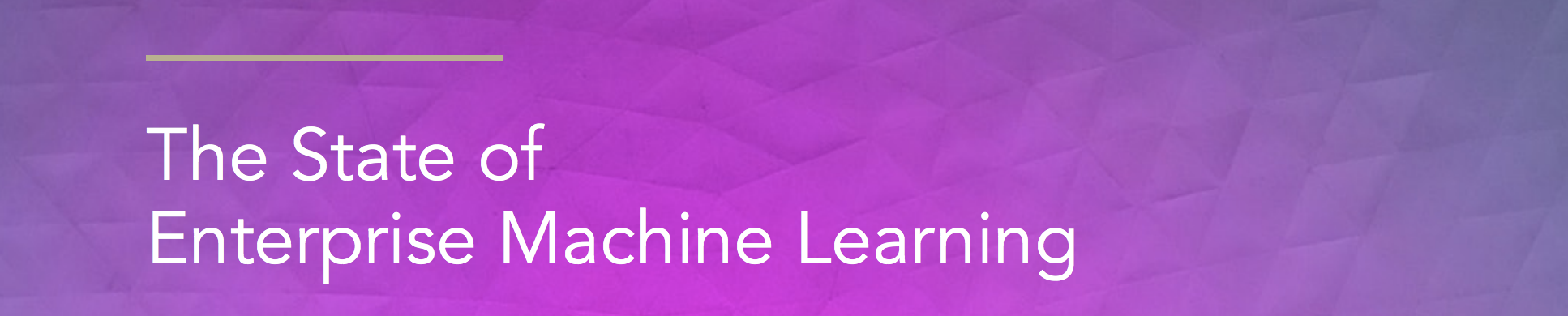 Machine Learning in Enterprise research results