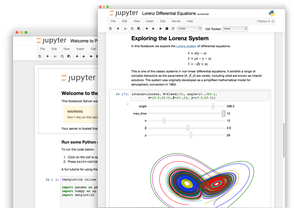 An example Jupyter Notebook
