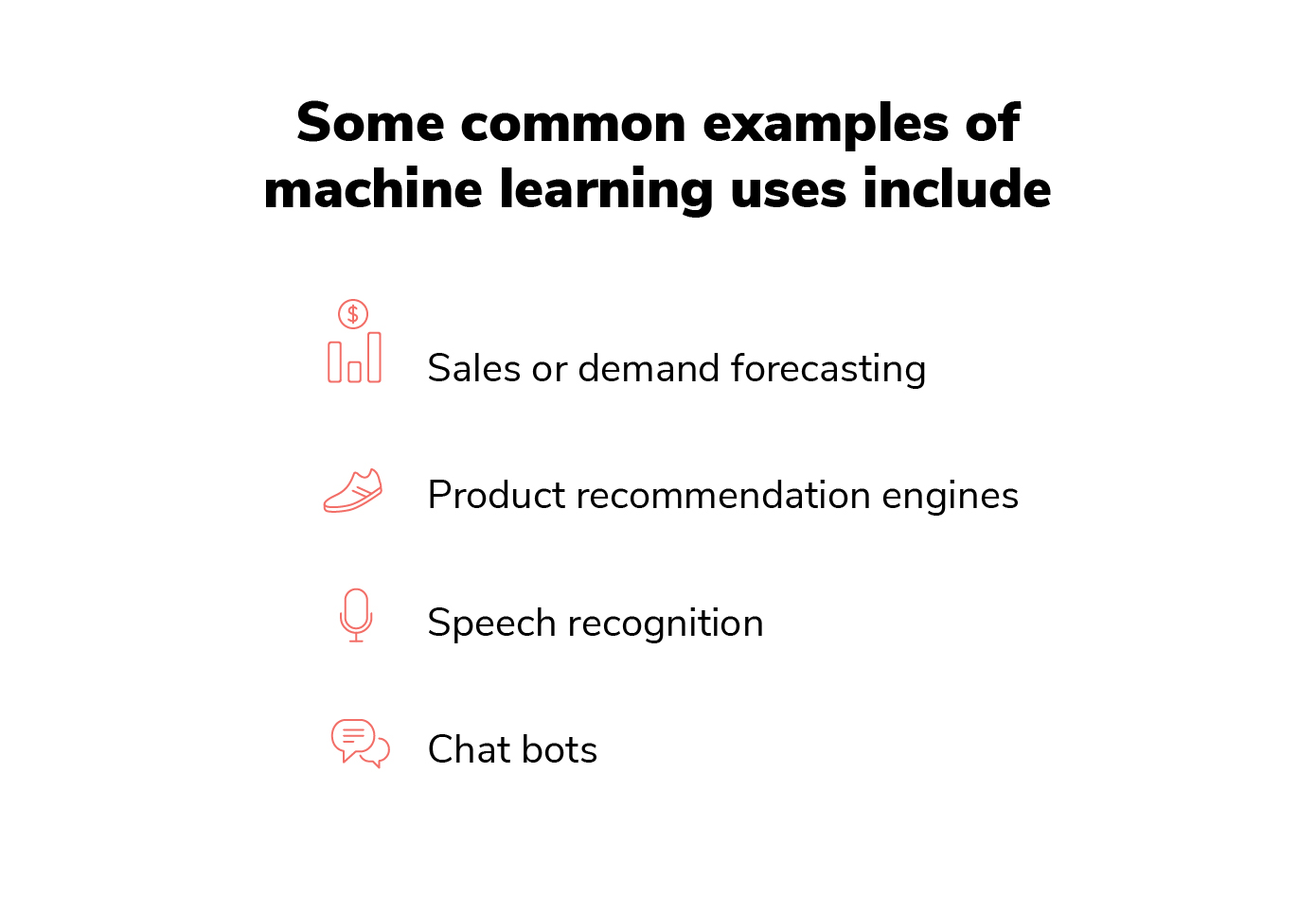 list of machine learning examples