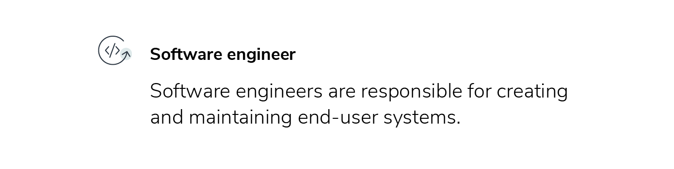 software engineer role description