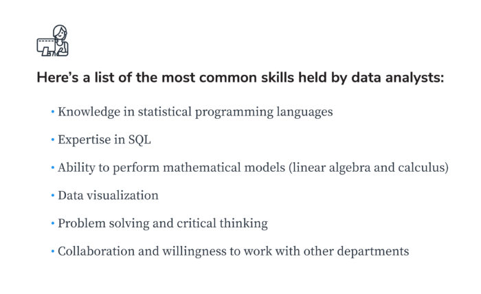 most common data analyst skills